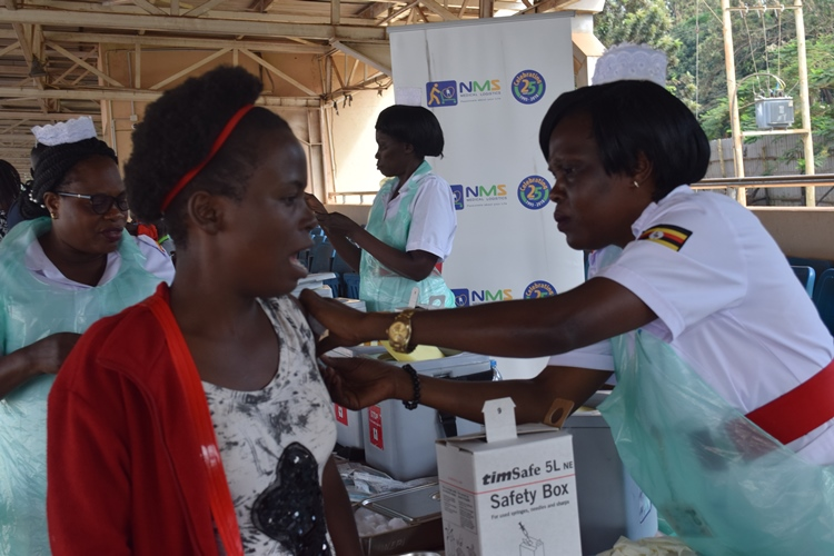 Nurses administering Yellow Fever Vaccination during the 3 day Free Yellow Fever Vaccination